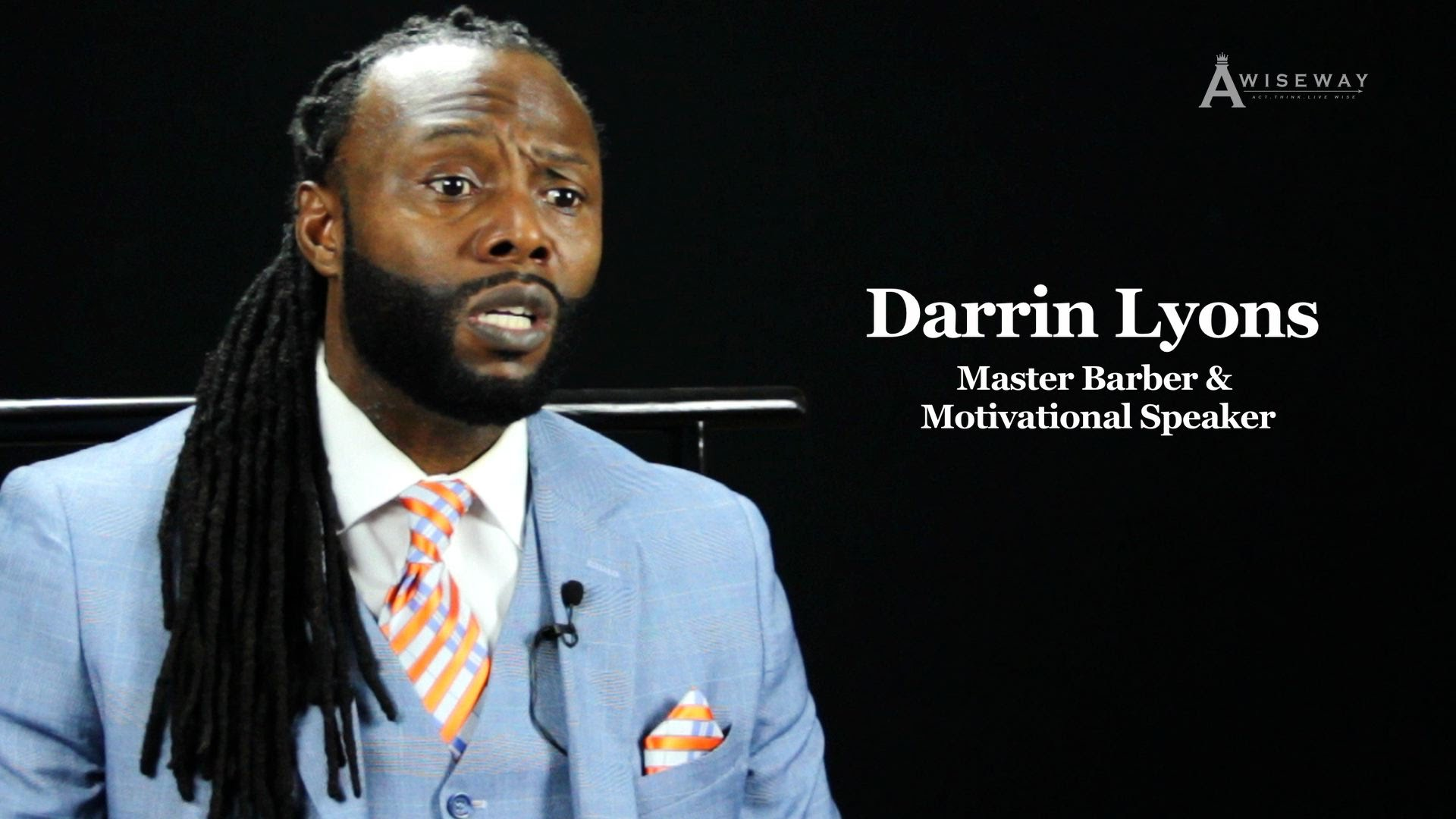 Motivational Speaker and Master Barber Darin Lyons Offers Advice to Aspiring Barbers