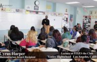 Cyrus Harper Speaks to P.O.P.S Kids at Venice High School (short)